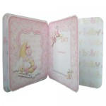 Baby Girl Rounded Corner Fold Card - inside view