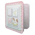 Baby Girl Rounded Corner Fold Card - view 2