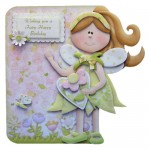 Fairy Best Wishes Shaped Card - view 1