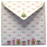 3D Christmas Tree Shaped Fold Card - envelope back