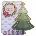 3D Christmas Tree Shaped Fold Card - view 1