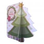 3D Christmas Tree Shaped Fold Card - view 2