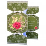 Winter Botanical Pyramage Tri Fold Cracker Card - view 2