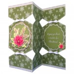 Winter Botanical Pyramage Tri Fold Cracker Card - view 1