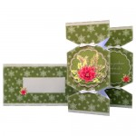 Winter Botanical Pyramage Tri Fold Cracker Card - finished set