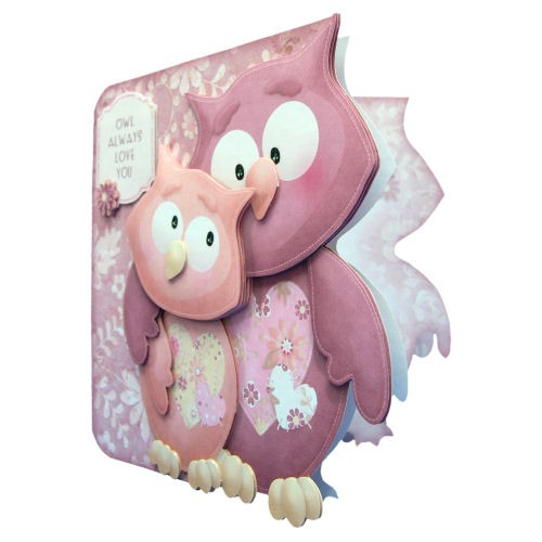 Owl Always Love You Shaped Fold Card - view 2