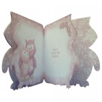Owl Always Love You Shaped Fold Card - inside view