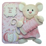 You Are Sew Mice Shaped Fold Card - view 1