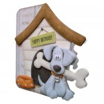 Playful Pup Shaped Fold Card - view 2
