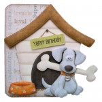 Playful Pup Shaped Fold Card -without recipient panel