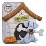 Playful Pup Shaped Fold Card -with recipient panel