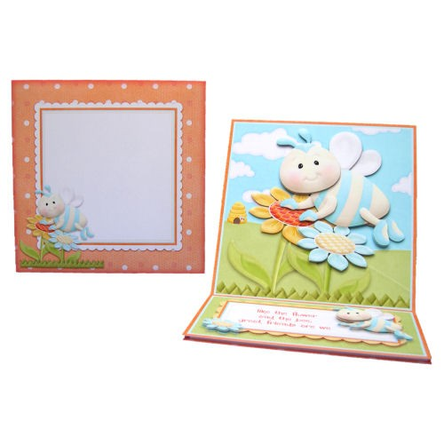 Like the Flower & the Bee Square Easel Card - finished set