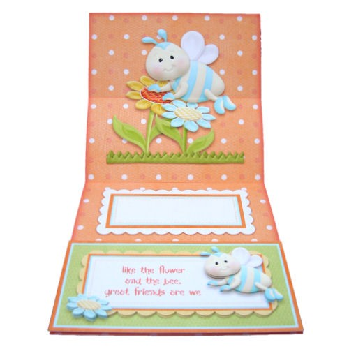 Like the Flower & the Bee Square Easel Card - inside