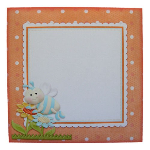 Like the Flower & the Bee Square Easel Card - envelope