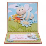 Like the Flower & the Bee Square Easel Card