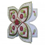 Noel Quad Petal Shaped Fold Card - view 2