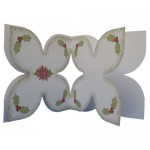 Noel Quad Petal Shaped Fold Card - inside view