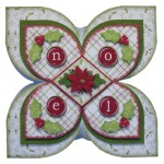 Noel Quad Petal Shaped Fold Card - view 1
