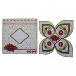 Noel Quad Petal Shaped Fold Card - finished set