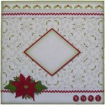 Noel Quad Petal Shaped Fold Card - envelope front