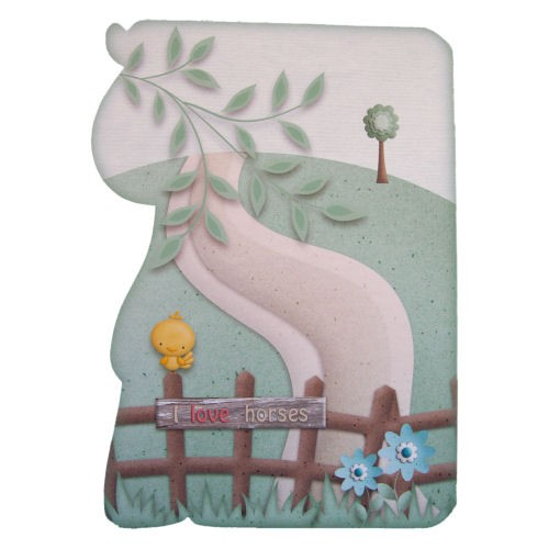 If Wishes Were Horses Shaped Fold Card - back view