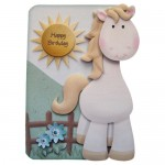 If Wishes Were Horses Shaped Fold Card - with sentiment