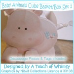 Baby Animals Basket/Box - Set 1