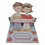 Dual Greetings Decoupage Shaped Easel Card