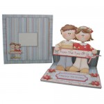 Dual Greetings Decoupage Shaped Easel Card - finished set