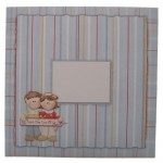 Dual Greetings Decoupage Shaped Easel Card - envelope