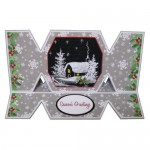 Snowy House At Night Cracker Easel Card