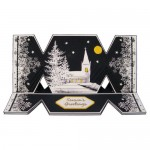 Winter Church At Night DL Cracker Easel Card
