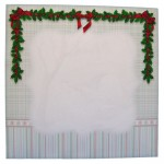 Snowy Bridge Window 7x7 Shadow Box Fold Card - envelope front