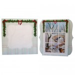 Snowy Bridge Window 7x7 Shadow Box Fold Card - finished set