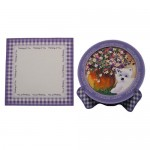 Westie with Flowers Plate Card - finished set