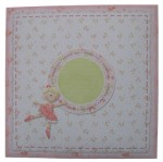Life's A Merry Dance! Decoupage Heart Shaped Card - envelope