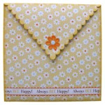 Always Bee Happy Shaped Fold Card - envelope back