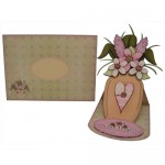 Flowers For You Decoupage Shaped Easel Card - finished set