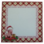 Naughty or Nice Christmas Baby Plate Card - envelope