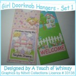 Girl's Doorknob Hangers - Set 1