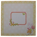 Somebunny Special Decoupage Shaped Fold Card - envelope