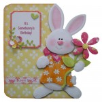 Somebunny Special Decoupage Shaped Fold Card - view 1