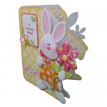 Somebunny Special Decoupage Shaped Fold Card - view 2