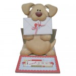 Woof! Cute Doggie Decoupage Shaped Easel Card