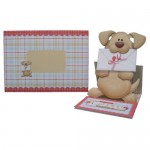 Woof! Cute Doggie Decoupage Shaped Easel Card - set