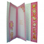 Cheerful Greetings Assymetric Fold & Side Panel Card - inside