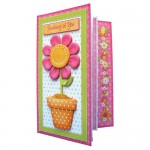 Cheerful Greetings Assymetric Fold & Side Panel Card - view 1