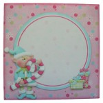 A Wonderful Christmas Shaped Fold Card - envelope front