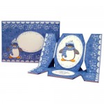 Have a Cool Yule! Penguin Cracker Easel Card - finished set