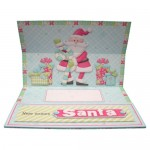 Santa's Train Over the Top Easel Card - inside view